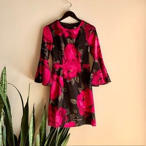 Trina Turk Bell Sleeve Floral Dress